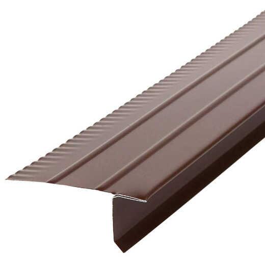 Amerimax F5M Aluminum Drip Edge Flashing, Brown