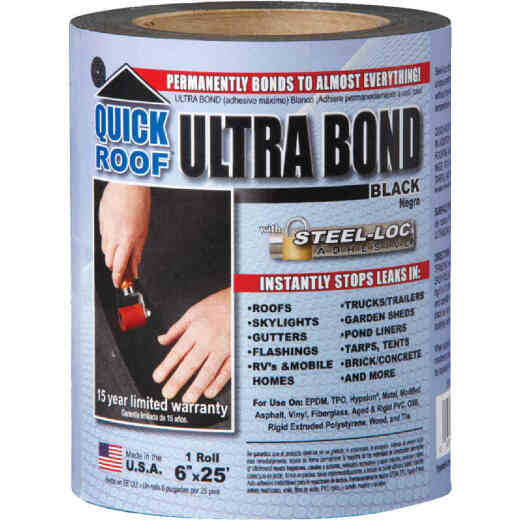 Quick Roof Ultra Bond 6 In. x 25 Ft. Instant Self-Adhesive Roof Repair