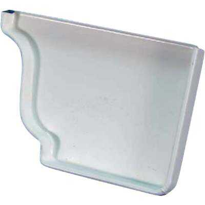 Spectra Metals 5 In. Aluminum White Right Gutter End Cap