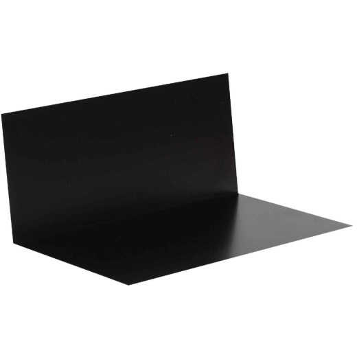 Amerimax 3 In. x 4 In. x 7 In. Black Aluminum Pre-Bent Step Flashing