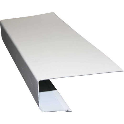Klauer C Galvanized Steel Roof Edge Flashing with Hems, White