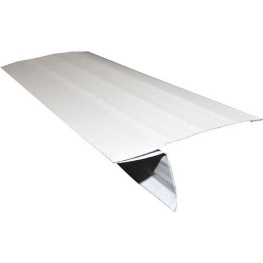 Klauer D5 Galvanized Steel Roof Edge Flashing with Hems, White