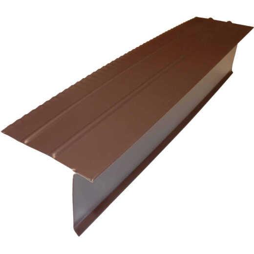 Amerimax F5S Aluminum Drip Edge Flashing, Brown