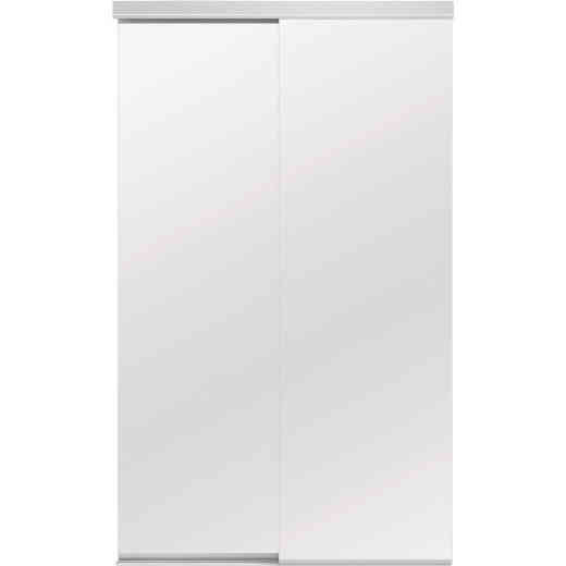 Colonial Elegance Classic 60 In. W x 80-1/2 In. H White Frameless Mirrored Sliding Bypass Door