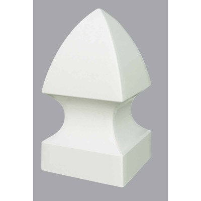 Outdoor Essentials 5 In. x 5 In. White Gothic Vinyl Post Cap