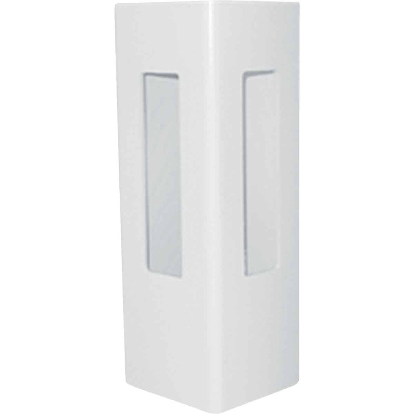 Outdoor Essentials 5 In. x 5 In. x 60 In. White Corner 2-Rail Fence Vinyl Post Image 1