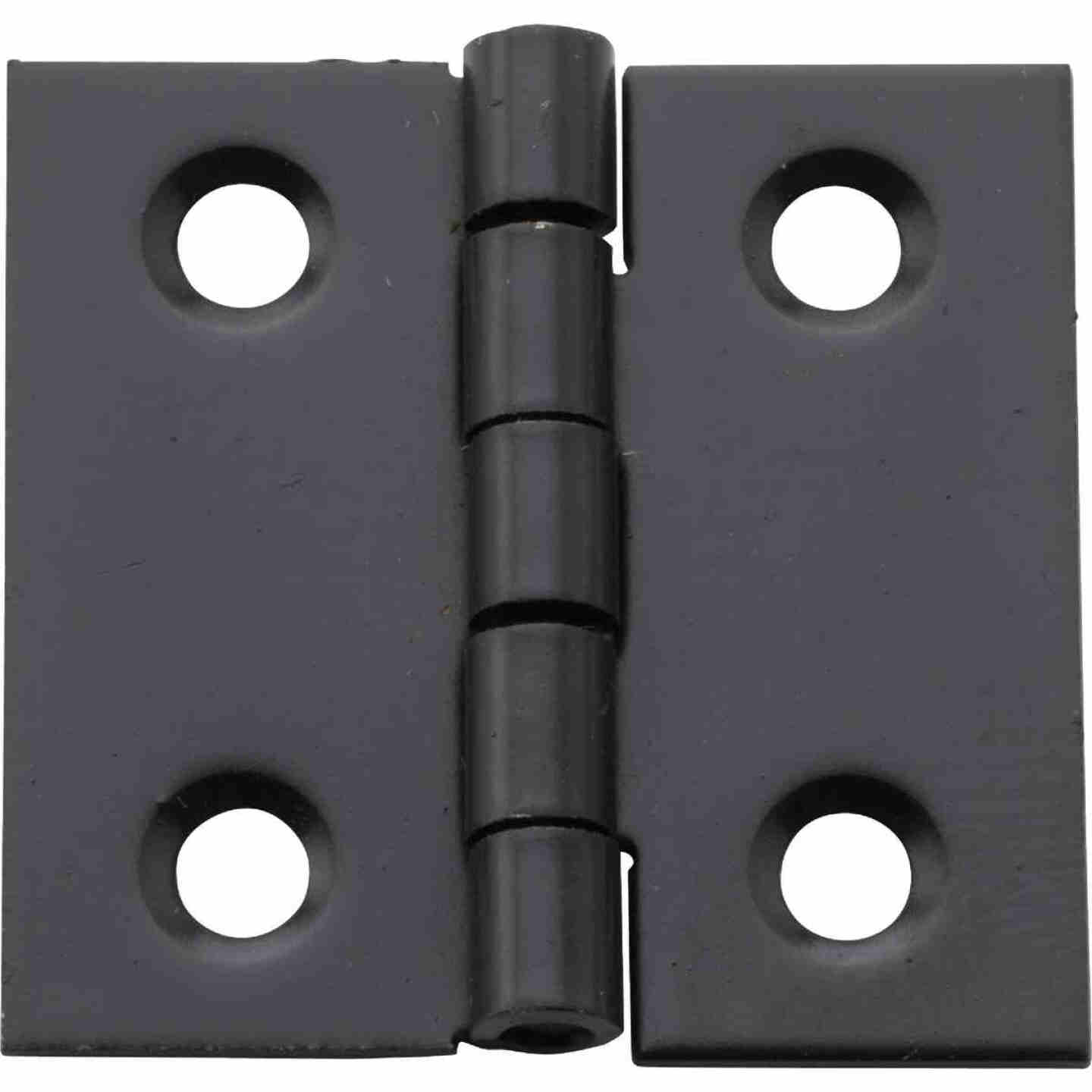 National 1 In. X 1 In. Oil Rubbed Bronze Broad Hinge (4-Pack) Image 1