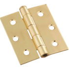 National 3 In. Square Polished Brass Screen Door Hinge Image 1