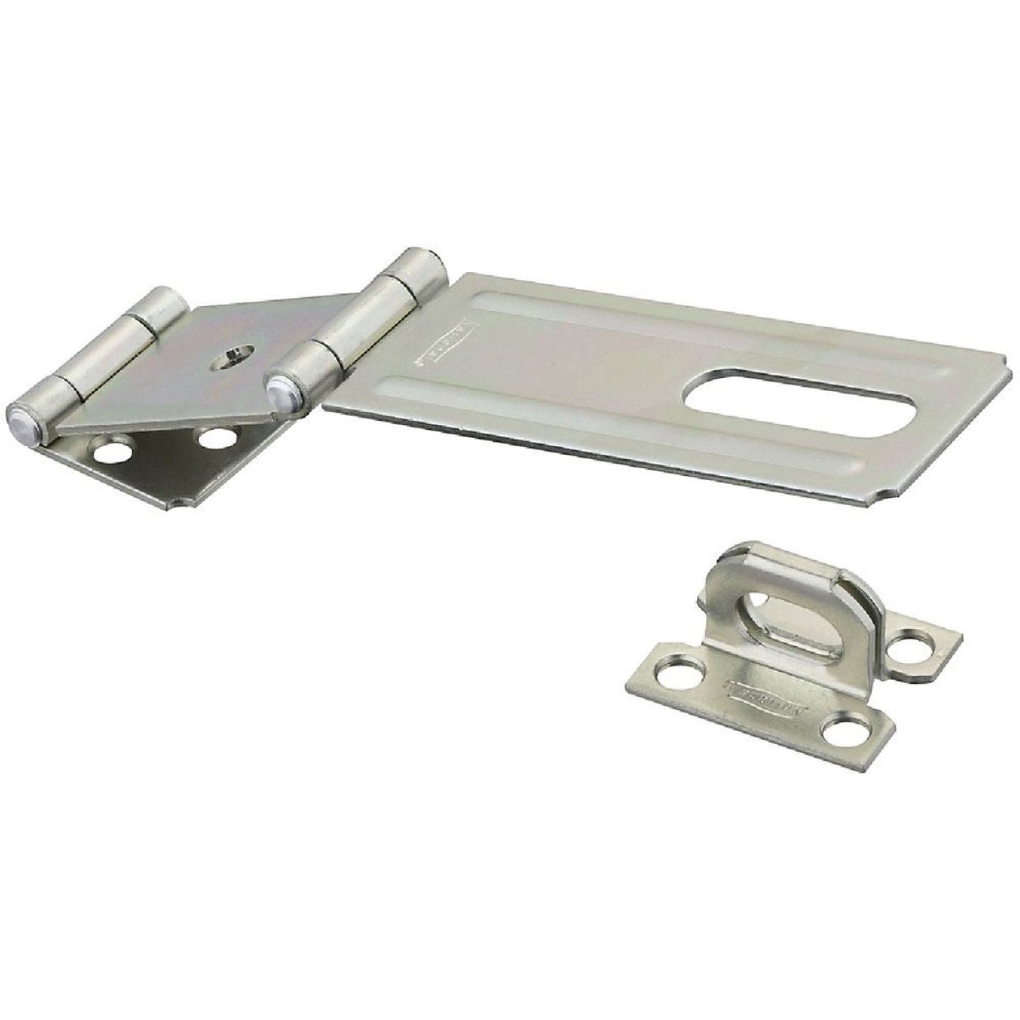 National 4-1/2 In. Double Hinge Zinc Hasp Image 1