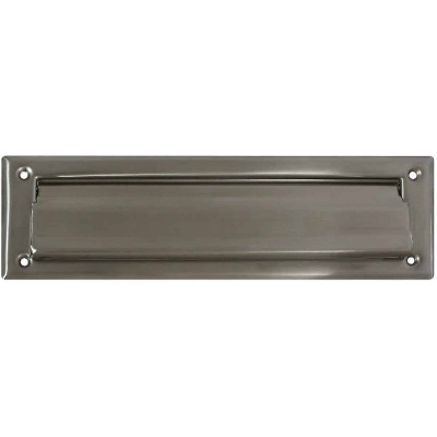 National 2 In. x 11 In. Satin Nickel Mail Slot