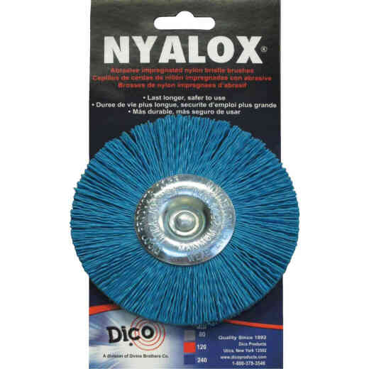 Dico Nyalox 4 In. Fine Drill-Mounted Wire Brush