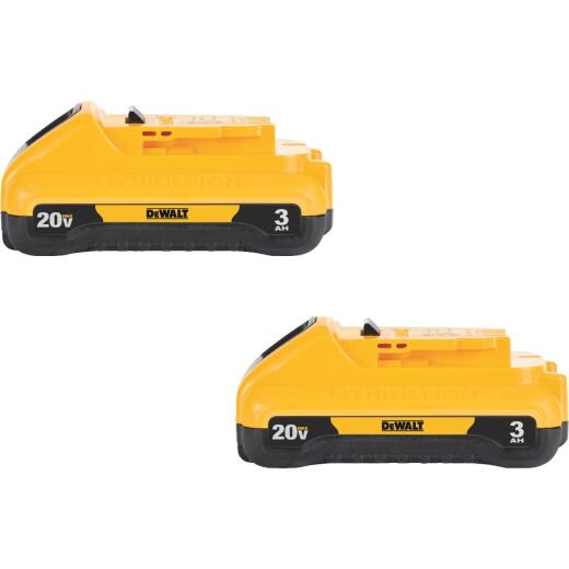 DeWalt 20 Volt MAX Lithium-Ion 3.0 Ah Compact Tool Battery (2-Pack)