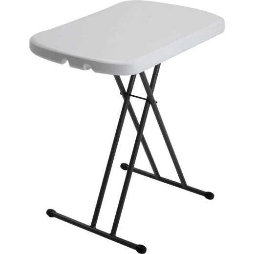 Lifetime 26 In. x 18 In. Personal Folding Table, White Granite