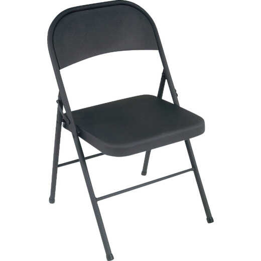 COSCO Black All Steel Folding Chair