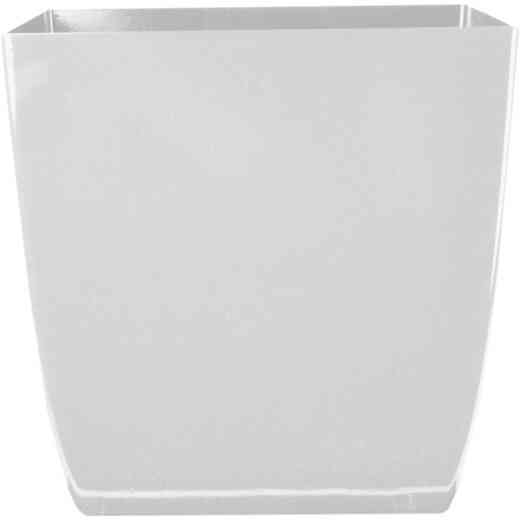 Myers Aria 6 In. Glossy White Square Planter
