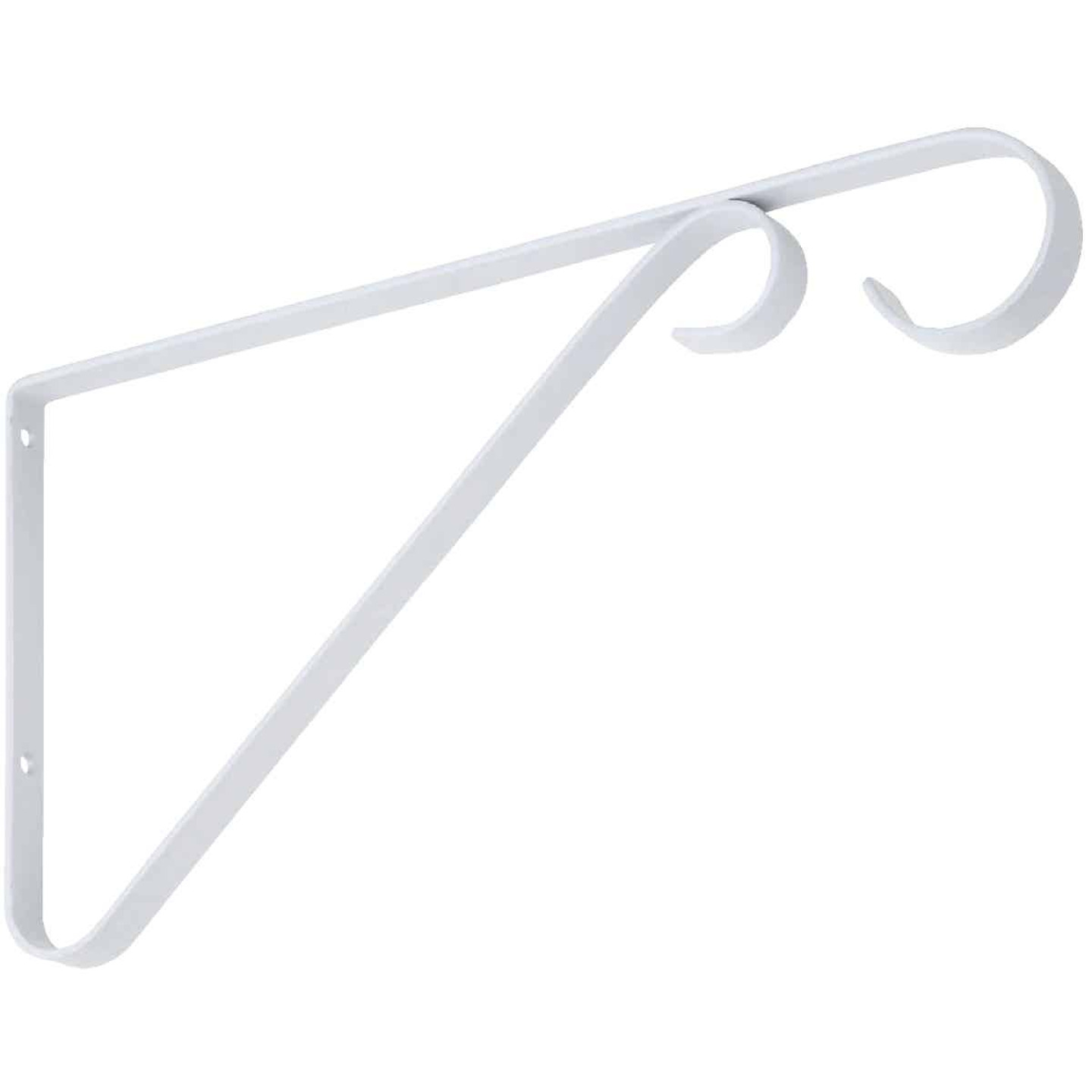 National 9 In. White Steel Hanging Plant Bracket Image 1