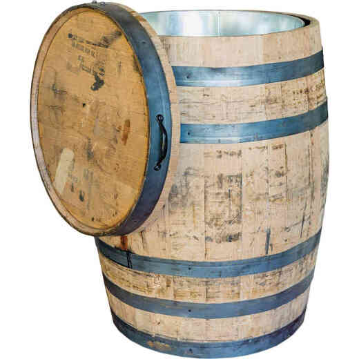 Real Wood Products 26 In. x 35 In. Oak Multi-Use Whole Whiskey Barrel