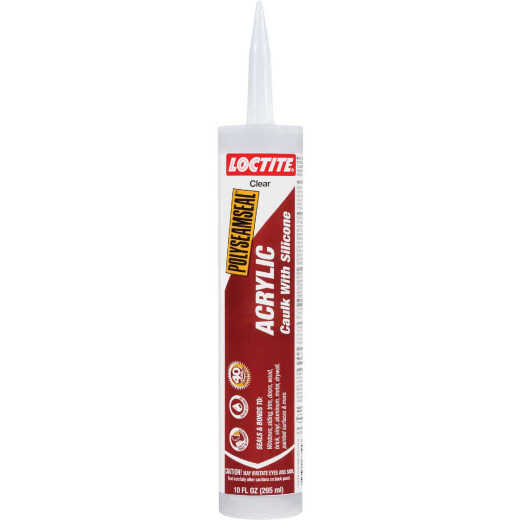 LOCTITE POLYSEAMSEAL 10 Oz. Clear Acrylic Caulk with Silicone