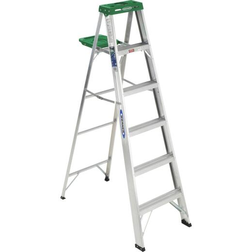 Werner 6 Ft. Aluminum Step Ladder with 225 Lb. Load Capacity Type II Ladder Rating