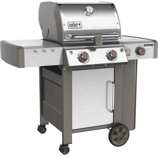 Weber Genesis II LX S-240 2-Burner Stainless Steel 29,000-BTU LP Gas Grill with 12,000-BTU Side Burner