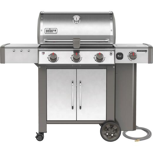 Weber Genesis II LX S-340 3-Burner Stainless Steel 43,500-BTU Natural Gas Grill with 12,000-BTU Side Burner