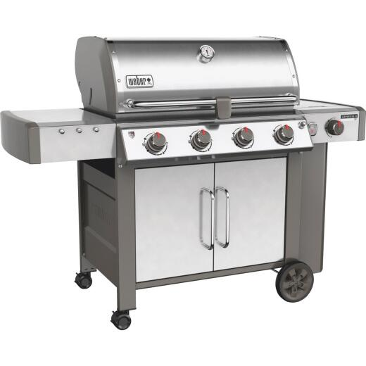 Weber Genesis II LX S-440 4-Burner Stainless Steel 52,000-BTU LP Gas Grill with 12,000-BTU Side Burner