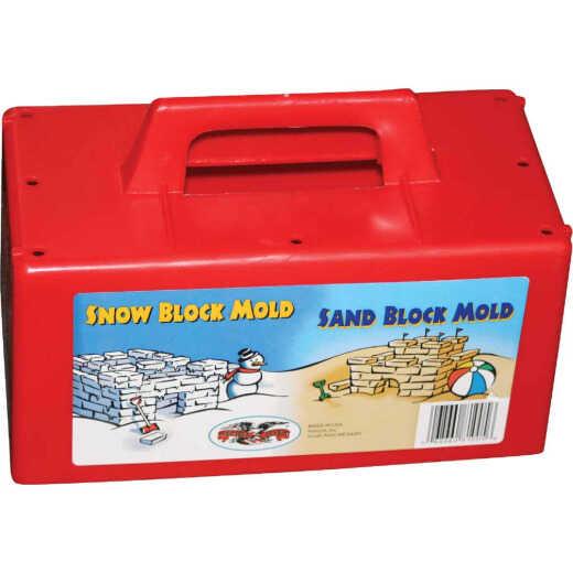 Flexible Flyer Red Plastic Sand & Snow Block Maker