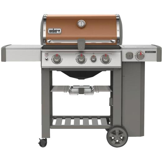 Weber Genesis II SE-330 3-Burner Copper 39,000 BTU LP Gas Grill with 12,000 BTU Side Burner