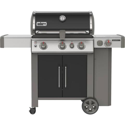 Weber Genesis II SE-335 3-Burner Black 39,000 BTU LP Gas Grill with 12,000 BTU Side -Burner
