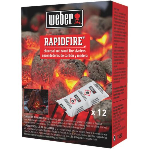 Weber Rapid Fire Odorless Lighter Pack (12-Pack)