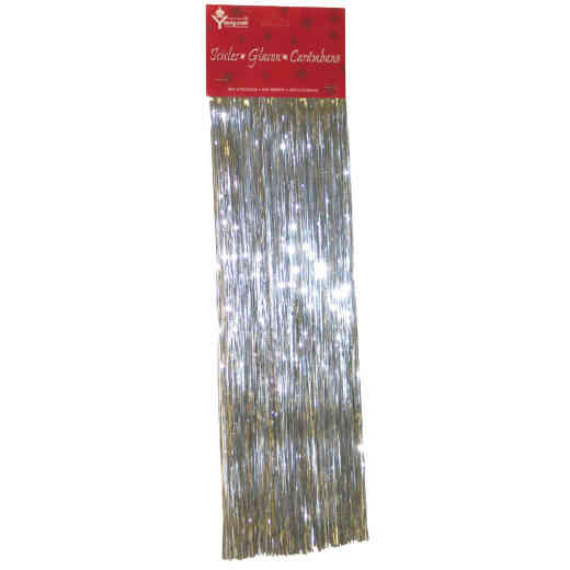F C YOUNG Thick 18 In. Silver Christmas Tinsel