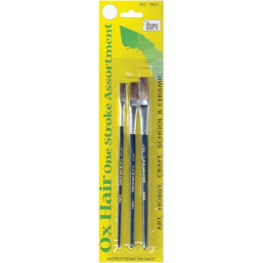 Duro Assorted Sizes Ox Hair Artist Brush Set (3 Pieces)